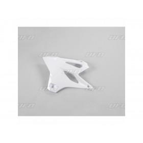 Ouïes de radiateur UFO blanc Yamaha YZ85