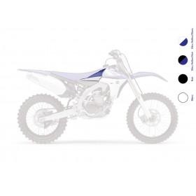 Connections d'ouïes de radiateur UFO bleu/blanc Yamaha YZ450F