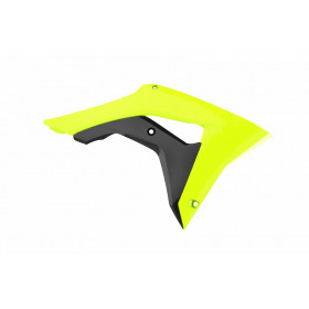 Ouïes de radiateur POLISPORT jaune fluo Honda CRF450R