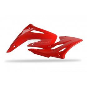 Ouïes de radiateur POLISPORT rouge Honda CR85R