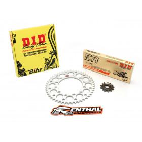 Kit chaîne D.I.D/RENTHAL 520 type ERT2 13/50 (couronne ultra-light anti-boue) Suzuki RM-Z450
