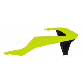 Ouïes de radiateur RACETECH jaune fluo/noir KTM SX/SX-F