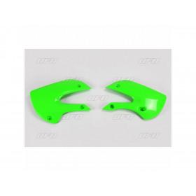 Ouïes de radiateur UFO vert Kawasaki KX65/KLX110