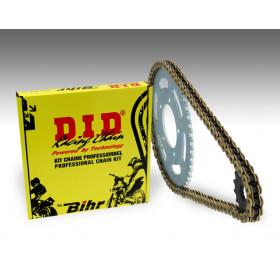 Kit chaîne D.I.D 520 type VX2 15/40 (couronne standard) Yamaha XT600