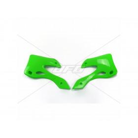 Ouïes de radiateur UFO vert Kawasaki KX125/250