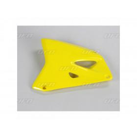 Ouïes de radiateur UFO jaune Suzuki RM85