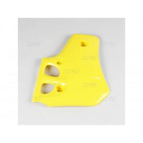 Ouïes de radiateur UFO jaune Suzuki RM80
