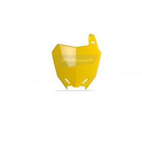Plaque numéro frontale POLISPORT jaune Suzuki RM-Z250/RM-Z450