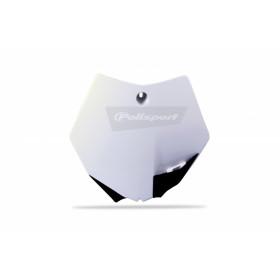 Plaque numéro frontale POLISPORT blanc KTM SX65