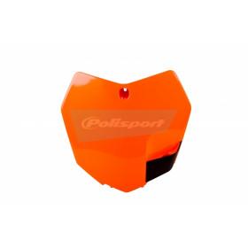 Plaque numéro frontale POLISPORT orange KTM