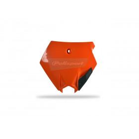 Plaque numéro frontale POLISPORT orange KTM SX85
