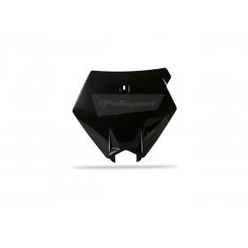 Plaque numéro frontale POLISPORT noir KTM