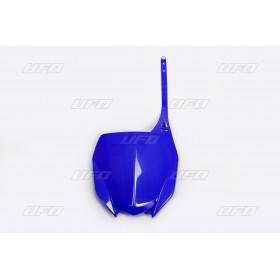 Plaque numéro frontale UFO bleu Yamaha YZ450F