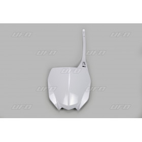 Plaque numéro frontale UFO blanc Yamaha YZ450F