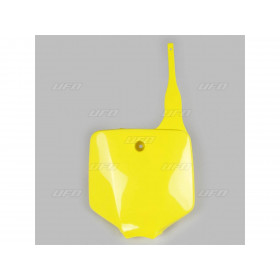 Plaque numéro frontale UFO jaune Suzuki RM65