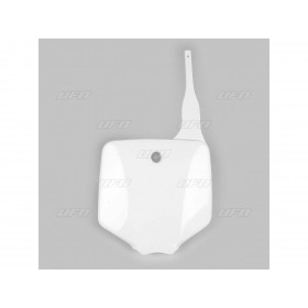 Plaque numéro frontale UFO blanc Suzuki RM65