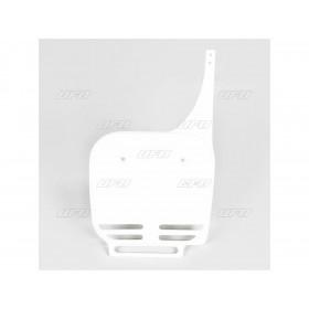 Plaque numéro frontale UFO blanc Suzuki RM60