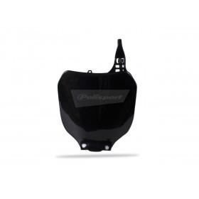 Plaque numéro frontale POLISPORT noir Yamaha YZ125/YZ250