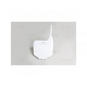 Plaque numéro frontale UFO blanc Honda