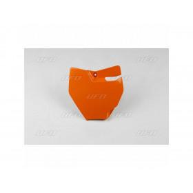 Plaque numéro frontale UFO orange KTM SX65