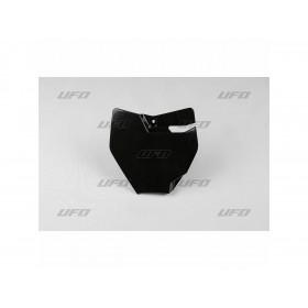 Plaque numéro frontale UFO noir KTM SX65