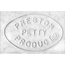 Plaque numéro frontale PRESTON PETTY ovale blanc