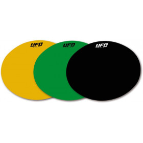 Planche adhésive ovale UFO jaune