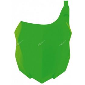 Plaque numéro frontale RACETECH vert fluo Kawasaki KX-F